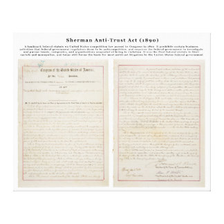 The Sherman Antitrust Act July 2 1890 Gallery Wrap Canvas