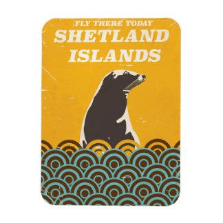 The Shetland Islands vintage travel poster Magnet