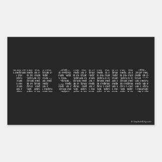 The Shining Rectangular Sticker