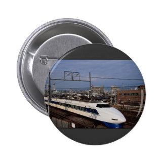 The Shinkansen or Bullet Train, Kyoto, Japan 6 Cm Round Badge