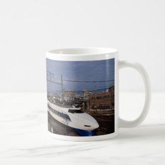 The Shinkansen or Bullet Train, Kyoto, Japan Basic White Mug