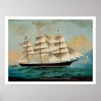 The Ship Fleetwing, Hong Kong Bay Print