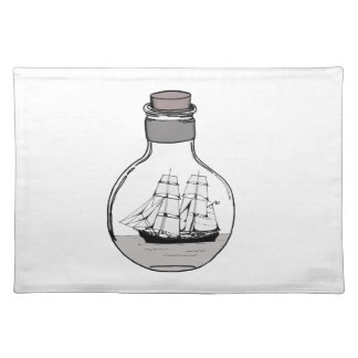 The ship in the glass bulb placemat
