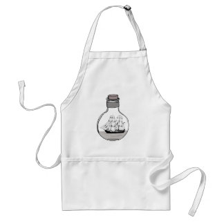 The ship in the glass bulb standard apron