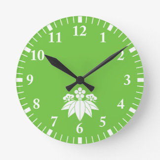 The Shochiku Co., Ltd. plum autumn bellflower Round Clock