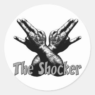 The Shocker Round Sticker