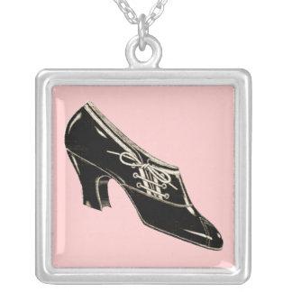The Shoe Square Pendant Necklace