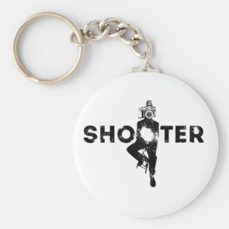 The Shooter - Photographer Basic Round Button Key Ring