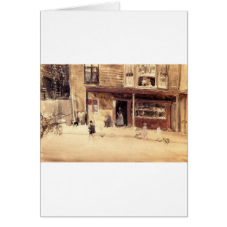 The Shop - An Exterior by James McNeill Whistler Card