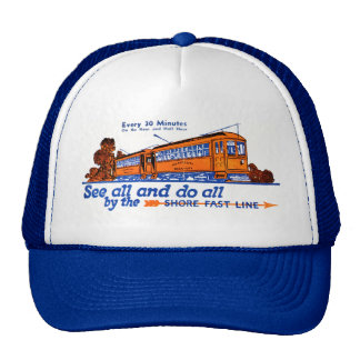 The Shore Fast Line Trolley Service Cap