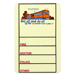 The Shore Fast Line Trolley Service Rectangular Photo Magnet