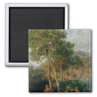 The Shores of Lake Lecco Square Magnet