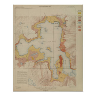 The Shores of Yellowstone Lake Poster