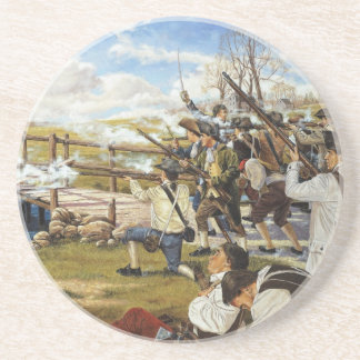 The Shot Heard 'Round the World Domenick D'Andrea Beverage Coasters