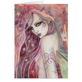 The Shy Flirt Modern Fairy Fantasy Art Card