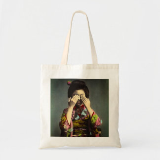 The Shy Geisha Vintage Old Japan Hand Colored