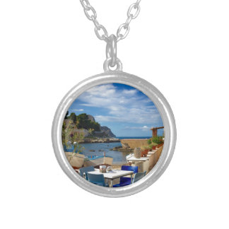 The Sicilian Fishing Village Silver Plated Necklace