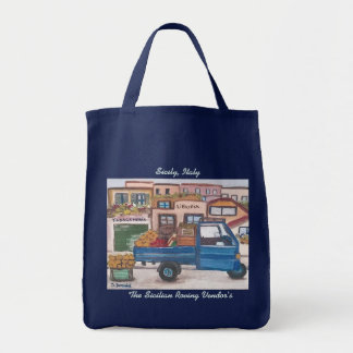 The Sicilian roving vendor's - Grocery Tote