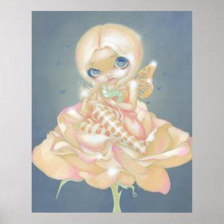 The Sick Rose ART PRINT fantasy fairy flower