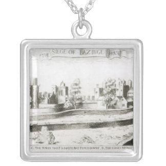 The Siege of Basing House, 1645 Silver Plated Necklace