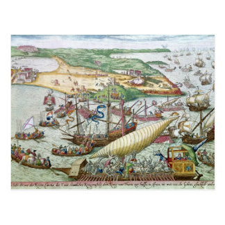 The Siege of Tunis or La Goulette by Charles V Postcard