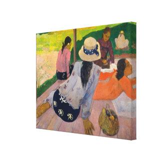 The Siesta by Paul Gauguin Tahitian Women Tahiti Canvas Print