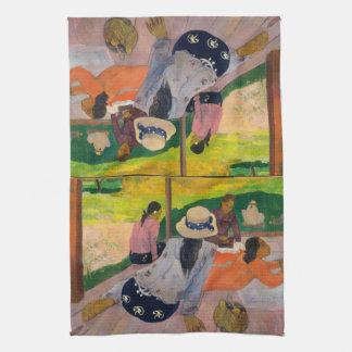 The Siesta by Paul Gauguin Tahitian Women Tahiti Kitchen Towel