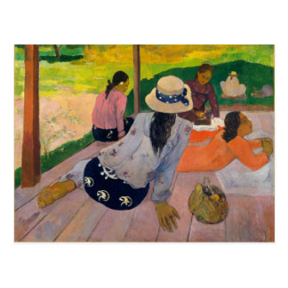 The Siesta by Paul Gauguin Tahitian Women Tahiti Postcard
