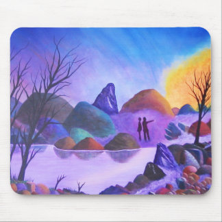 The Sighting - Alien Lights Mouse Pads
