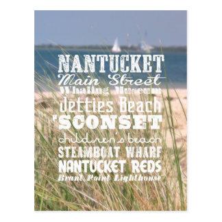 The Sights of Nantucket, Massachusetts - Postcard