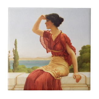 The Signal Godward Woman Portrait Vintage Art Tile