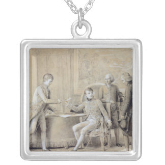 The Signing of Concordat Silver Plated Necklace