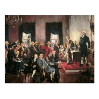The Signing of the Constitution Postcard