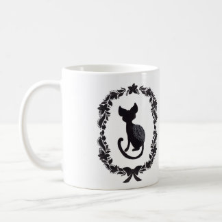 The Silhouette Cat Basic White Mug