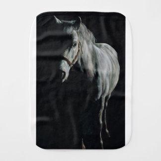 The Silver Horse in the shadows Burp Cloth