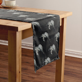 The Silver Horse in the shadows Short Table Runner