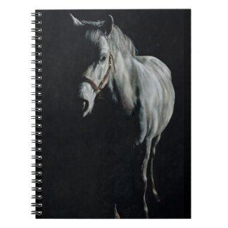 The Silver Horse in the shadows Spiral Notebook