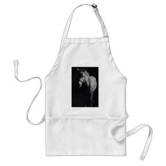 The Silver Horse in the shadows Standard Apron