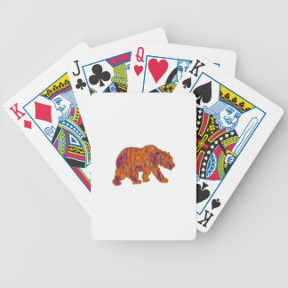The Simple Bear Necessities Bicycle Playing Cards
