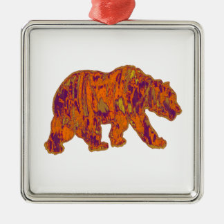 The Simple Bear Necessities Metal Ornament