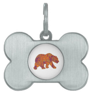 The Simple Bear Necessities Pet Name Tag
