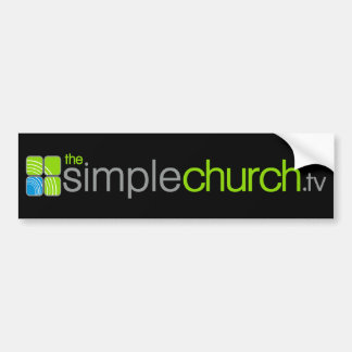 The Simple Church Bumper Sticker