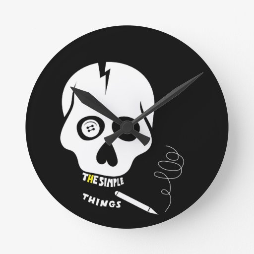 The simple things skull wall clocks