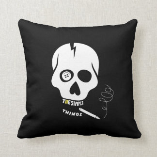 The simple things skull pillow