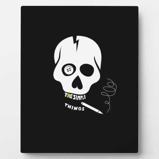 The simple things skull photo plaques