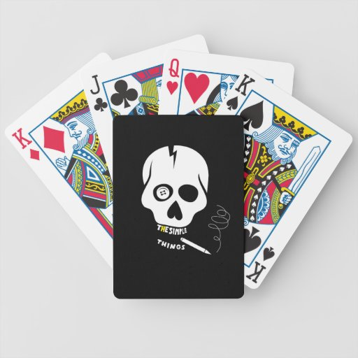 The simple things skull poker cards