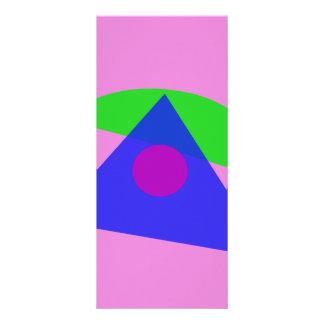 The Simplest Geometric Abstract Art Custom Rack Card