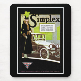 The Simplex - Vintage Automobile Advertisement Mousepad