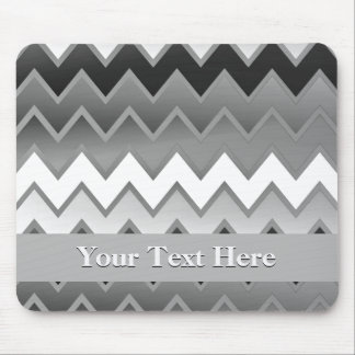 The Simply ZigZag -Monochrome Mouse Pad