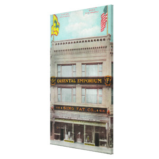 The Sing Fat Co Oriental Emporium Stretched Canvas Print